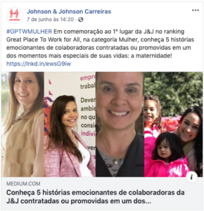 Johnson & Johnson post Carreiras